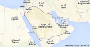 map saudi arabia