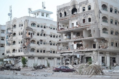 Destruction in Aden
