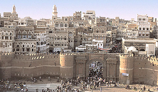 Old City Sana'a; continuously inhabited for 2,500 years.